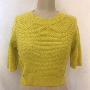 Rebecca Taylor NWOT cashmere chartreuse sweater
